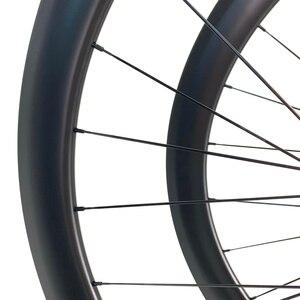 Image 3 - Дорожные дисковые велосипедные карбоновые колеса ELITE 700c Novatec D411 с 6 болтами или центральным затвором