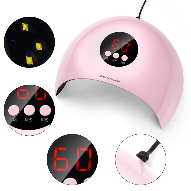 MEET ACROSS Nail Dryer UV LED Lamp Nail Lamp For Curing All Gels Builder Polish Varnish Manicure Salon Nail Art Tools
