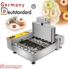 Almanya Deutstandard yeni tasarım 6 satır elektrikli otomatik çörek makinesi kızartma Mini çörek yapma makinesi ile yüksek kalite