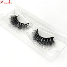 100% 3D real mink hair lashes wholesale natural long individual thick fluffy soft false eyelashes makeup dramatic J048
