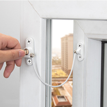 Window anti-theft ventilation limiter child baby safety belt key door and window lock high-rise fall protection
