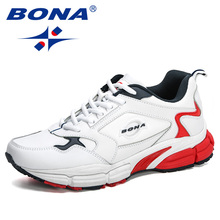 BONA 2020 New Designers Action Leather Fashion Lightweight Men Casual Shoes Increased Men Walking Sneakers Leisure Footwear Man
