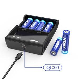 Image 5 - Cargador de batería XTAR 18650 VC2 VC4, Cargador USB con LCD/QC3.0, carga rápida VC4S SC2 / VC2S PB2S, cargador de batería 18650