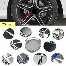 75mm tampas de cubo de roda automática para mercedes benz amg emblema w205 w212 w176 w203 w204 w209 w210 w211 w166 w163 w221 aro center capa
