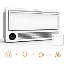 Yeelight Calentador inteligente para techo de baño, calefactor ajustable, ventilación montada, ventilador, secado rápido, control remoto por voz, 8 en 1