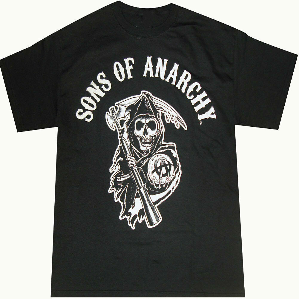Official Anarchy Sons Of Reaper Logo T-Shirt - Samcro Jax Teller Outlaw Charming Adult Summer Streewear Size:S-3Xl
