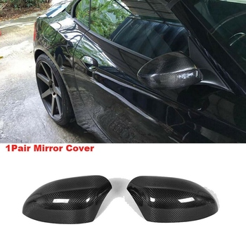 Car Carbon Fiber Side Rear View Mirror Covers Cap For-Bmw Z4 E89 2009-2015 image