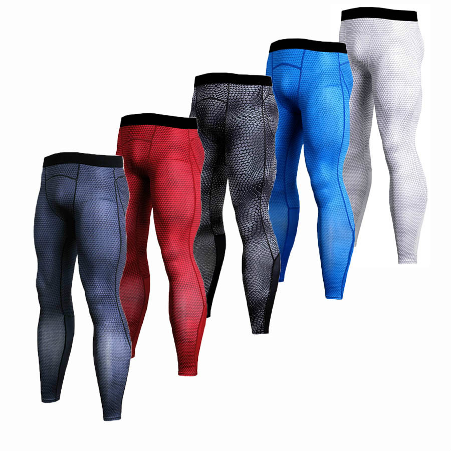 Men 39 s Compression Pants Sport Tights Jogging Running Pants Men Bodybuilding Skinny Leggings Sportswear Fitness Brand Gym Pants in Running Pants from Sports amp Entertainment