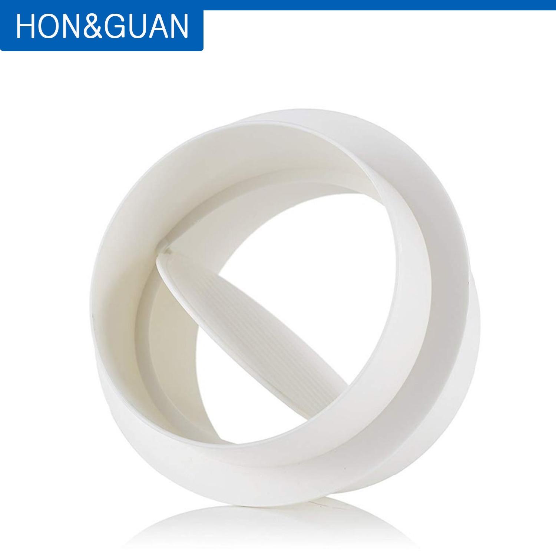 Hon&Guan 4''~8'' Draft Blocker, Backdraft Damper Inline Extractor Fan Vent Back Draught Shutter (100 Mm~200 Mm)