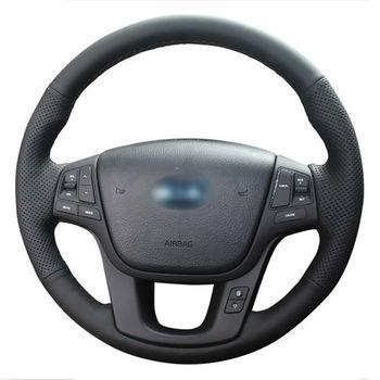 DIY Free Customized PU Steering Wheel Stitch on Wrap Cover For Kia Sorento
