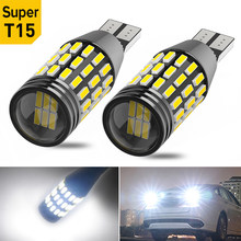 2x T15 W16W T16 Canbus Led Car Backup Reserve Lights Bulb for BMW E46 E90 E60 E36 X5 E53 E70 F30 E61 E39 F20 F10 X5 E53 E87 X3