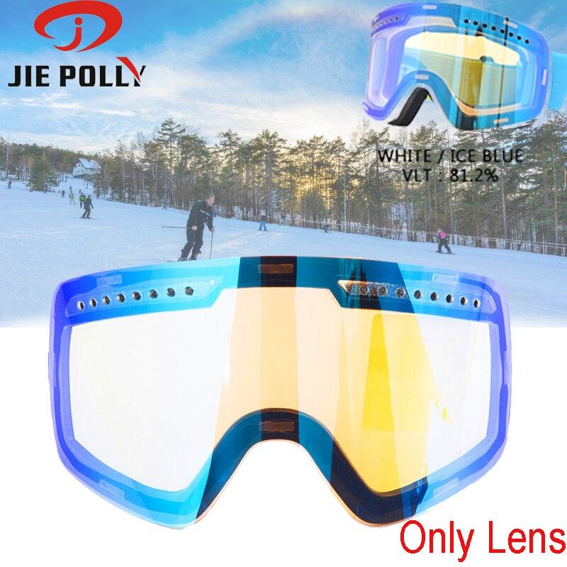 Original Ski Lens Magnetic Dual-use Quick-change For Ski Goggles Anti-fog UV400 Ski Glasses Skiing Lens For Men And Women