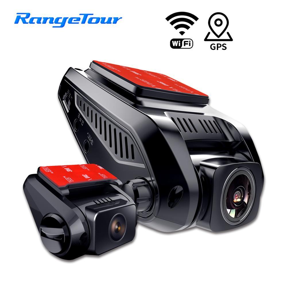Carro-dvr-gravador de veículo-câmera traço-cam de lente dupla adas wifi built-in-gps 4 k 2160 p