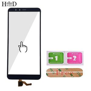 Сенсорный экран для HuaWei Y7 2018 Y7 Prime 2018 Y7 2019 Y9 2018, дигитайзер, панель, переднее стекло, 3 м, клеевые салфетки