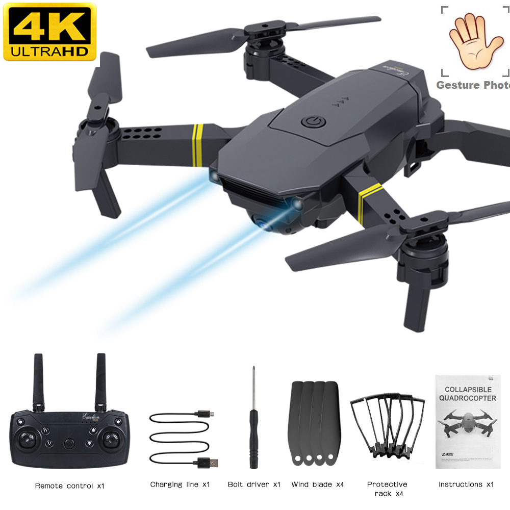 Drone 4k 1080p Profesional Rc Dron Selfie Mini Drones With Camera Hd 4k Drone Black Rc Helicopter 6ch Foldable With Parts Pocket