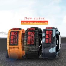 Banda de relógio do esporte de náilon para iwatch 5 6 2 3 38mm 42mm pulseira loop cinta para apple watch 6 se 5 4 40mm 44mm pulseiras de pulso