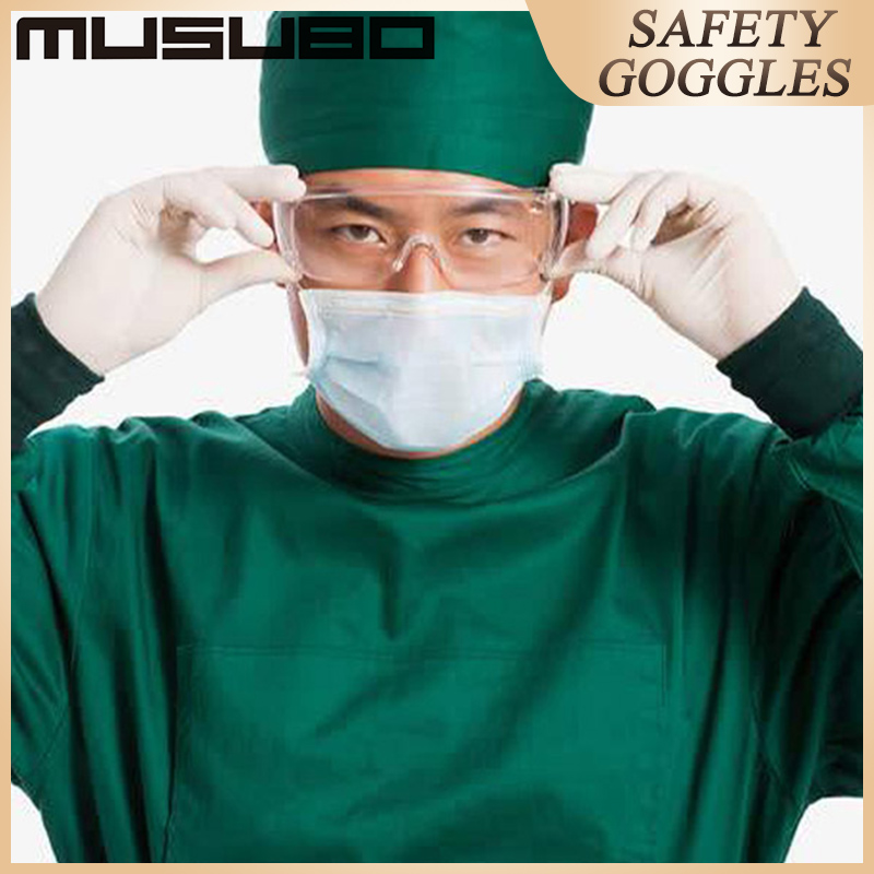 Musubo Clear Anti Dust Eye Protective Safety Goggles Glasses Anti Pollution Lightweight Spectacles For Factory Lab Work Outdoor