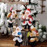 20 سنتيمتر زينة عيد الميلاد الراتنج سانتا كلوز الحلي الدائمة دمية صغيرة الحلي قلادة هدية الكريسماس ديكورات 4