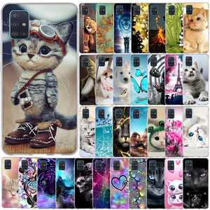 For Samsung Galaxy A51 A 51 A515F Case Cover Soft Pattern Phone Case For Samsung Galaxy A71 A 71 A717F Silicone Case Back Cover