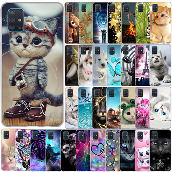 For Samsung Galaxy A51 A 51 A515F Case Cover Soft Pattern Phone Case For Samsung Galaxy A71 A 71 A717F Silicone Case Back Cover cool pattern case for prestigio wize q3 psp3471 duo case cover clear soft silicone phone cover for prestigio wize q3 cover cases