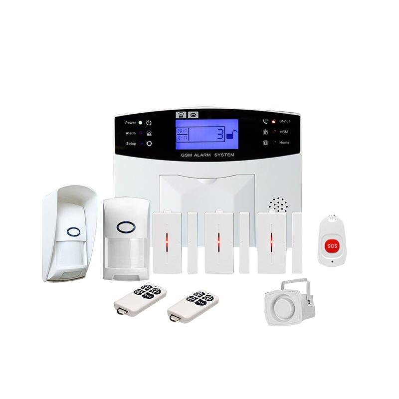 Güvenlik ve Koruma'ten Kişisel Savunma Malzemeleri'de Gsm kablosuz ev hırsız alarmı sistemi SOS hareket kapı pencere sensörü güvenlik (ab tak) title=