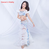Belly Dance New Female Child Temperament Bra Performance Clothing Girl Long Skirt Profession Performance Clothes Suit