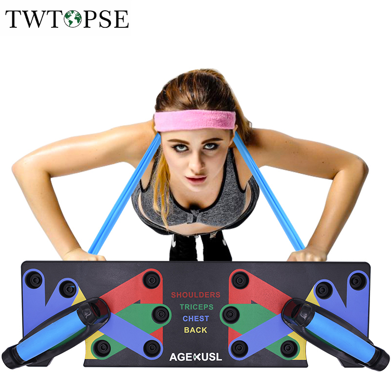 TWTOPSE 2.0 Push Up Rack Board System Comprehensive Fitness Exercise Workout Pushup Stands Complete Training Gym Exercise Men brompton stickers