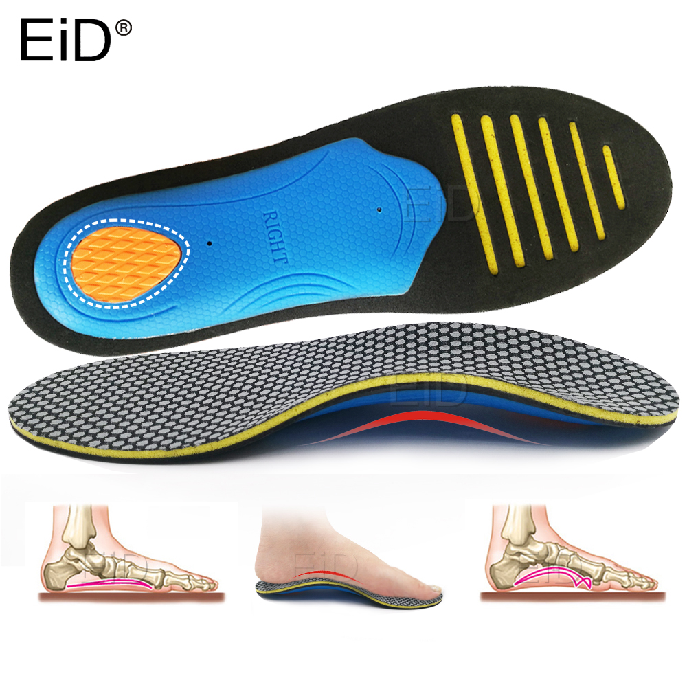Eid alta qualidade eva palmilhas ortopédicas palmilhas ortopédicas palmilhas ortopédicas para sola de sapato plana para pé arco sapatos de inserção