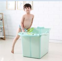 Baby Folding Tub Large Seat with Armrest Baby Bath Tub Multifunctional Rack Environmental Protection Material Saves Space