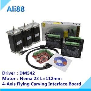 Image 2 - 3 ציר CNC נתב ערכת 3Nm/425oz. ב Nema 23 מנוע צעד & DM542 סרוו נהג CNC מיל נתב מחרטה + DB25 הבריחה לוח