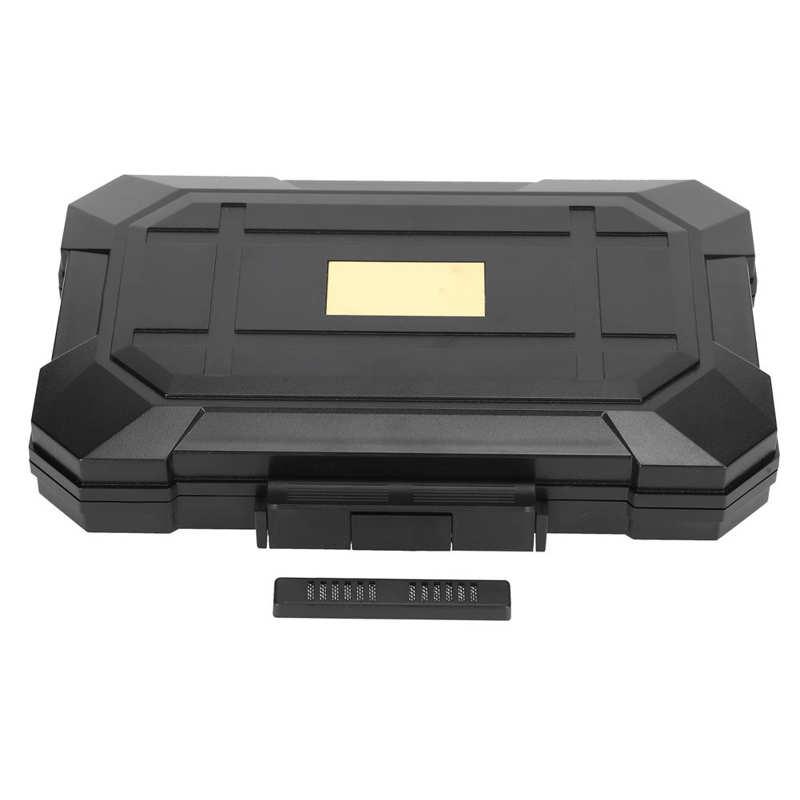 Portable Cigar Humidor Box Plastic Travel Business Trip Cigar Case Storage Box Black Storage Case Hard Shell Container