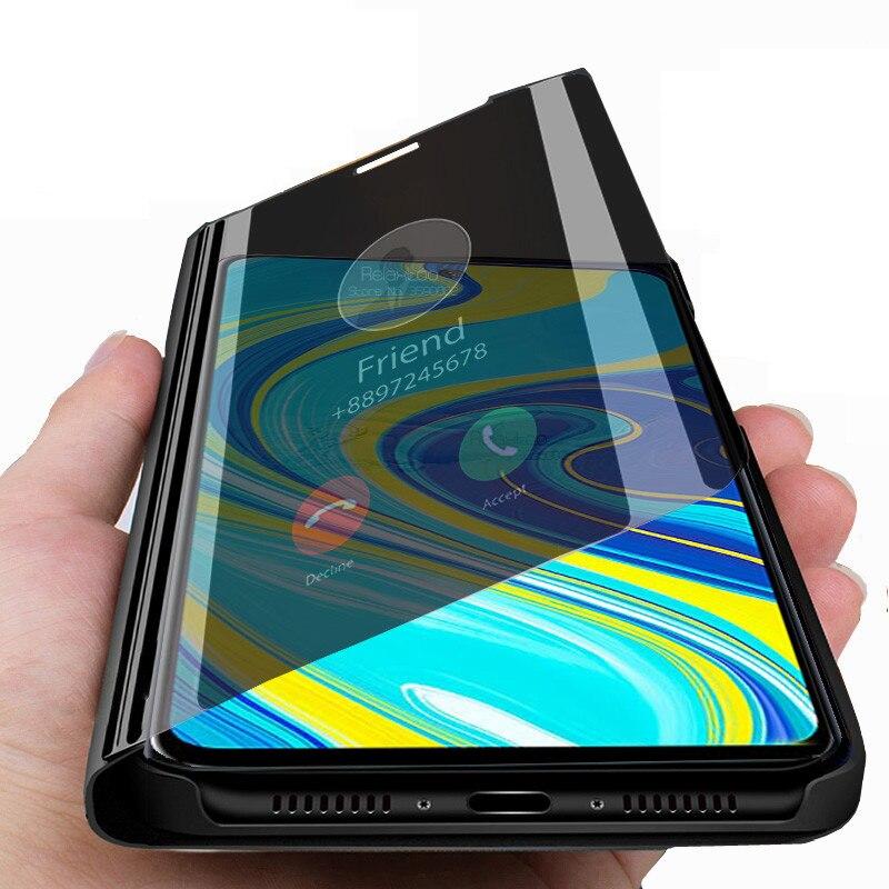 redmi note 9s case Smart Mirror Flip Case For xiaomi redmi note 9 pro max note9 s not 9pro Stand book phone Cover fundas coque(China)