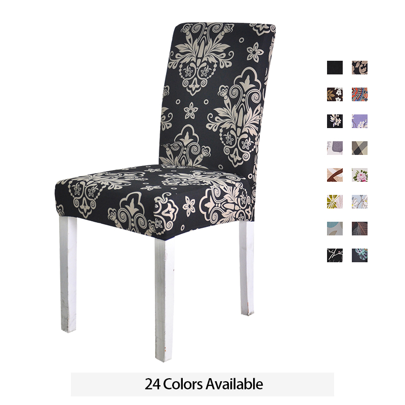 Spandex Chair Cover Stretch Elastic Dining Seat Cover For Banquet Wedding Restaurant Hotel Anti-dirty Removable Housse De Chaise