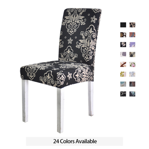 Spandex Chair Cover Stretch Elastic Dining Seat Cover for Banquet Wedding Restaurant Hotel Anti-dirty Removable housse de chaise(China)