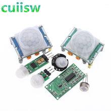 Mini módulo de detecção de movimento para arduino, módulo piroelétrico infravermelho ir, sensor de movimento para arduino, 1 peça, HC-SR501 HC-SR505 am312