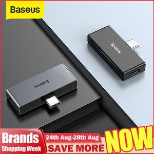 Image 1 - Baseus L57 USB Typ c Adapter usb c zu 3,5mm aux Kopfhörer Kopfhörer adapter mit PD 18W Schnell lade für typ c Jack Telefon