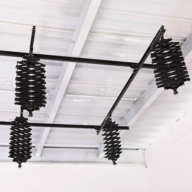 写真機材万里の長城 4m * 4m 天井レール撮影ライトハンガー 4 パンタグラフ