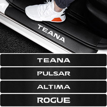 4 pçs carro-estilo do carro protetor do peitoril da porta adesivo para nissan nismo tida teana pulsar juke x-trail almera qashqai micra sentra