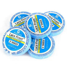 1 рулон 3 ярдов синяя кружевная Передняя клейкая лента для париков