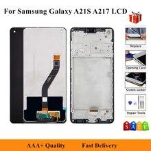 Oryginalny ekran LCD do Samsung Galaxy A21S 2020 A217 SM-A217F A217F/DS A217M wyświetlacz dotykowy Digitizer zgromadzenie + rama + narzędzia