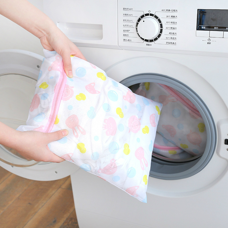 Zippered Mesh Laundry Bags Foldable Delicates Lingerie Bra Socks Underwear Washing Machine Clothes Protection Net Bag