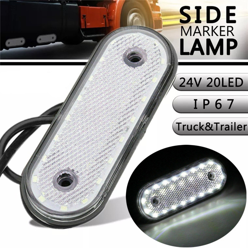 Side Lights Truck 24v LED Lights Trailer Oval Side Marker Lights Clearance Lamp LED Clearance Lights Trailer