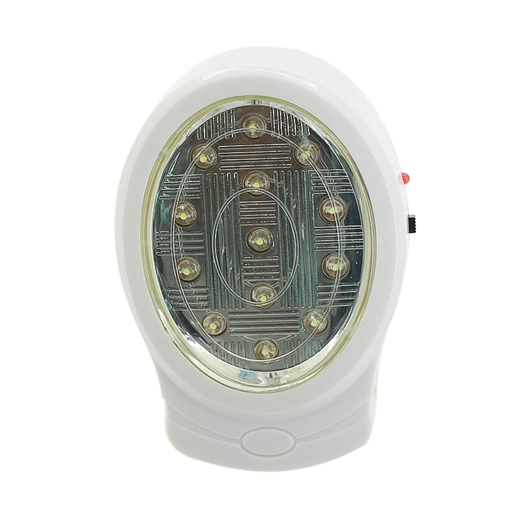 1pc 2W 13 LED Rechargeable Home Emergency Light Automatic Power Failure Outage Lamp Bulb Night Light 110-240V US Plug Sale