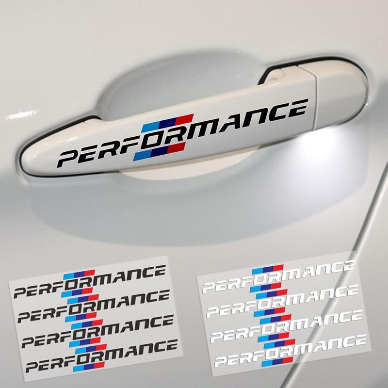 4pcs Car Door Handle Sticker Car Decoration Stickler For Bmw M Sticker X1 X3 X4 X5 X6 X7 E46 E90 F20 E60 E39 F10 Car Accessories