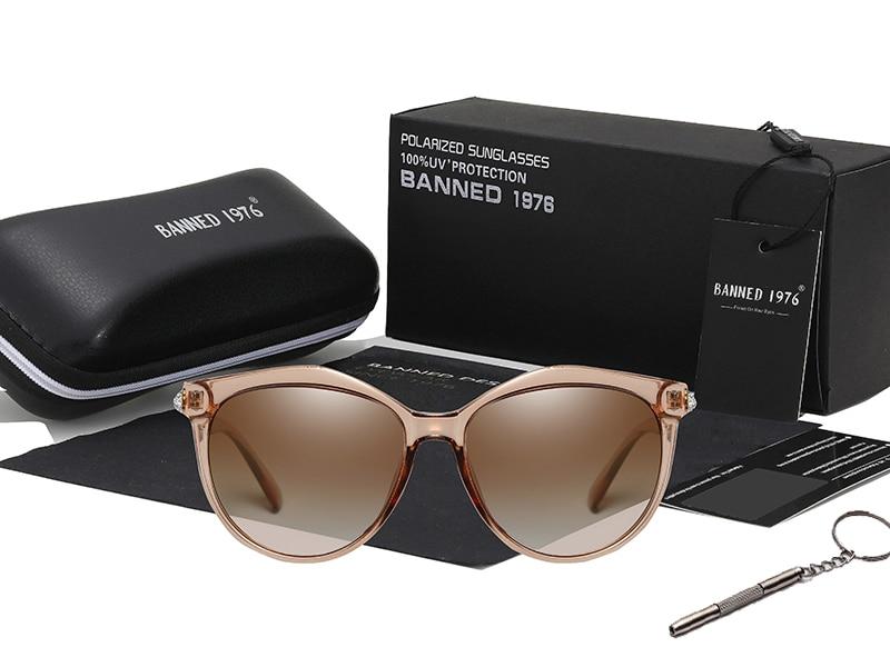 Hd8f94e5a82fd4896b2a01bbbf7663e6eS 2020 New Luxury HD Polarized Women Sunglasses Fashion Round Ladies Vintage Brand Design cat eye woman Female Sun Glasses oculos