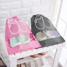 2 размера, сумка для хранения обуви, переносная утолщенная Нетканая Водонепроницаемая дорожная сумка, домашняя одежда для хранения и организации