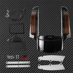 Image 2 - אופנוע LED אור אחורי סיומת פגוש Fascia סט להארלי סיור אלקטרה כביש Glide 2014 עד FLTRXS Ultra מוגבל FLHX