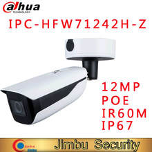 Dahua IPC-HFW71242H-Z 12mp motorizada bala wizmind apoio da câmera detecção de rosto pessoas contando ivs câmera de vigilância