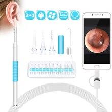 In Ohr Reinigung Endoskop USB Visuelle Ohr Löffel 5,5mm 0,3 MP Mini Kamera Android PC Ohr pick Otoskop Endoskop werkzeug Gesundheit Pflege