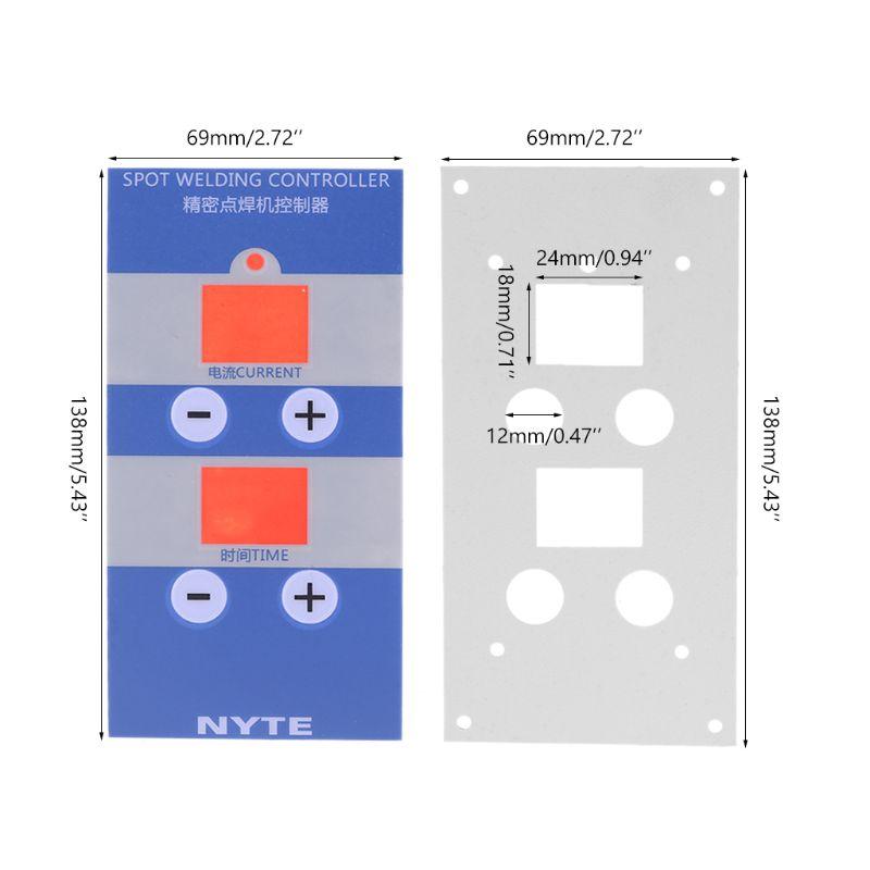 1set Panel Film For Digital Spot Welding Time & Current Controller Welder NY-D04 D05